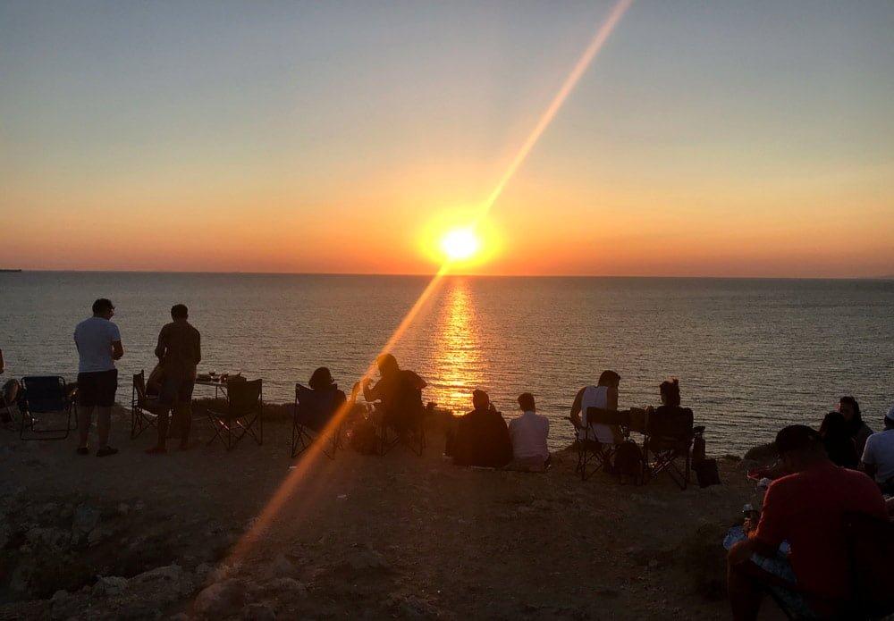 Bozcaada, Bozcaada günbatımı, Bozcaada güneşin batışı, Polente gün batımı, Polente Feneri gün batımı, Bozcaada'da gün batımı