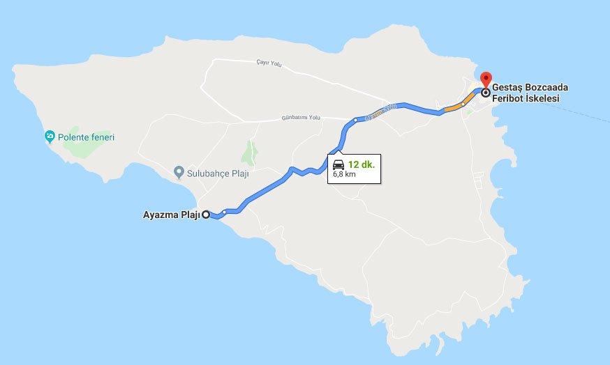 Ayazma Plajı Nerede, Bozcaada Ayazma Plajı Nerede, Ayazma Plajı Bozcaada Nerede, Ayazma Plajı Nasıl gidilir, Ayazma Plajı Nerededir